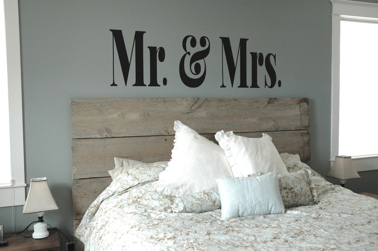 Bedroom Decor Mr And Mrs