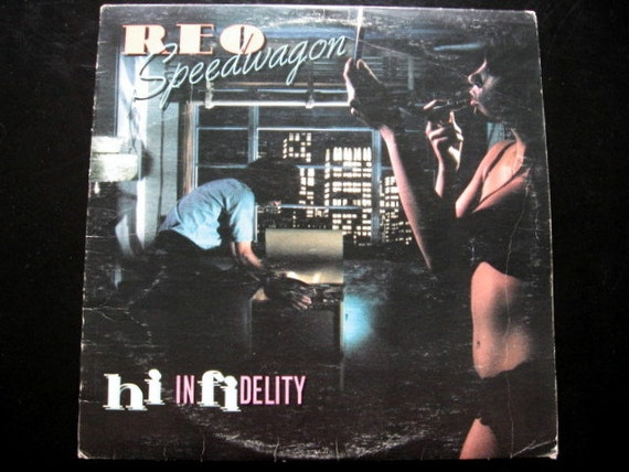 1980 reo speedwagon hi infidelity by toysnsuch on etsy. Black Bedroom Furniture Sets. Home Design Ideas