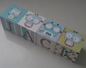 Hand-painted and Personalized Baby Blocks