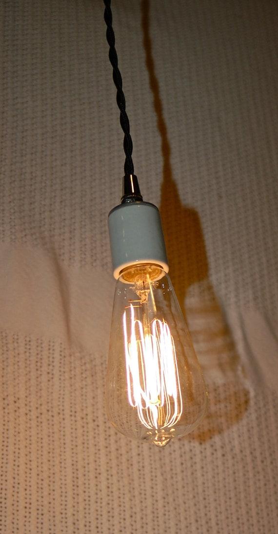 marconi style 60 watt light bulb vintage edison glass bulb squirrel cage filament
