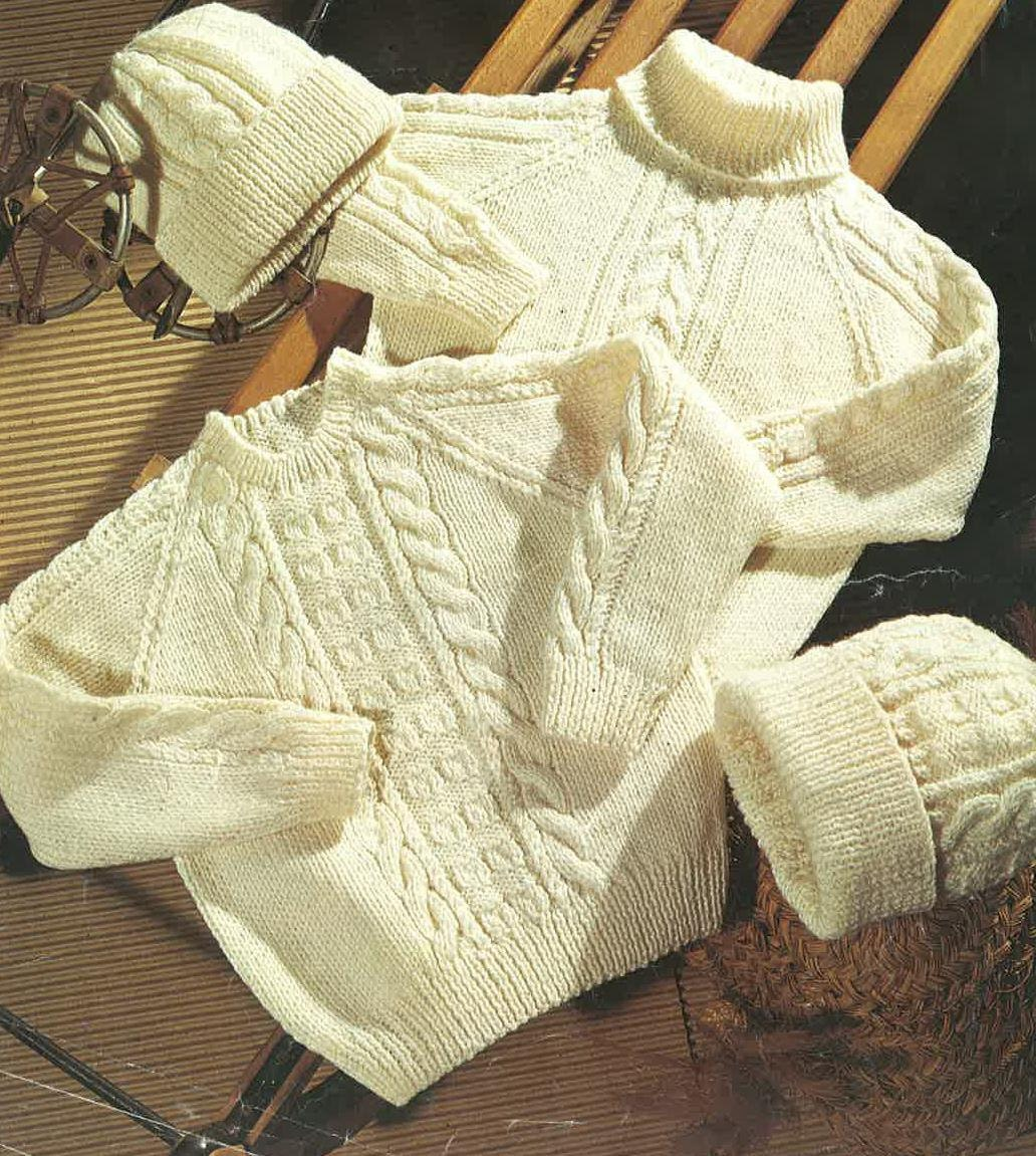 Knitting Patterns Childrens Jumpers : Knitting Pattern Children Jumper Childrens Sweater Hat size