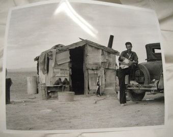 1937 migrant Mexican worker's home photograph, reprint