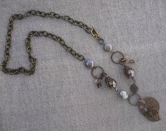 Bohemian Bronze Pearl Necklace