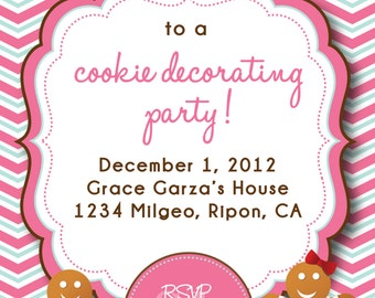 Cookie Decorating Party Invitation or Cookie Swap