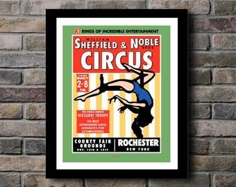 Circus Rochester, New York Digital Print - 11x14