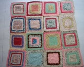 vintage & unusual granny squares quilt in bright modern colors