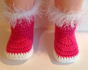 Crochet Pattern for Booties,  Snow Bunny Booties for Babies, PDF 12-051