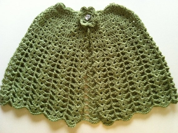 Crochet Pattern for Cape Poncho Shawl, Lacy Cape, PDF 12-040 INSTANT ...
