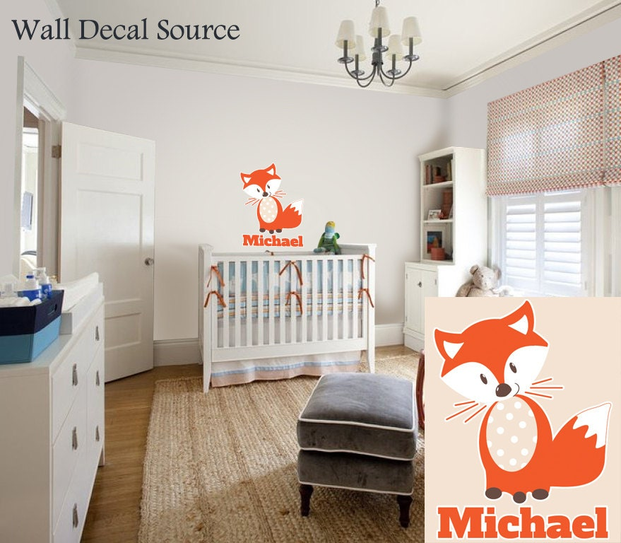 Fox Wall Decal Baby Boys Wall Decals Name Wall Decals
