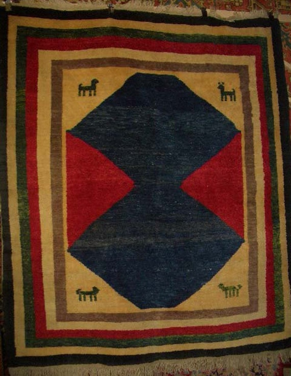 20% OFF SALE! - 1980s Vintage Turkish Gabbeh Rug