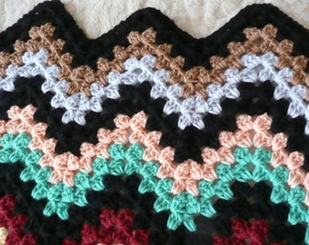 Joseph's Zigzag Afghan of Many Colors