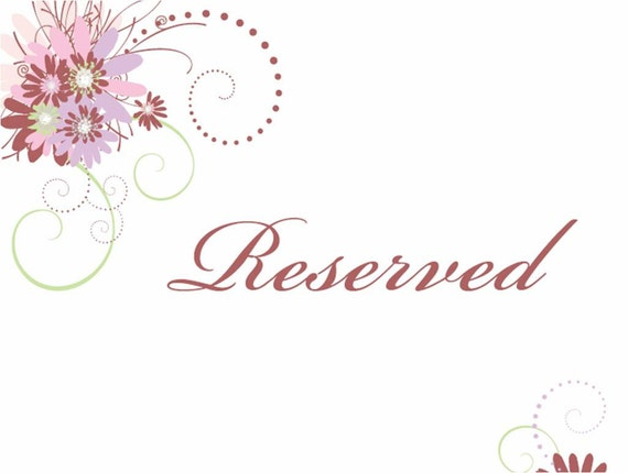 Reserved Listing for Ms. Stephania
