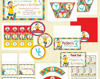Caillou Birthday Printable Set