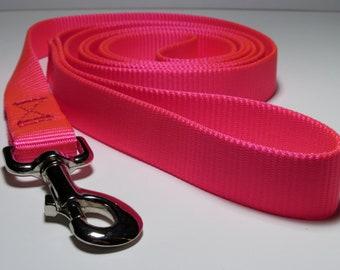 Pink 4 foot Heavy Nylon Dog Leash