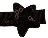 Fleur Star Hairclip - black