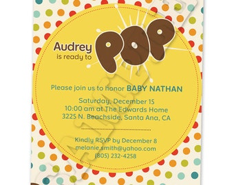 Printable Meet Baby Invitation