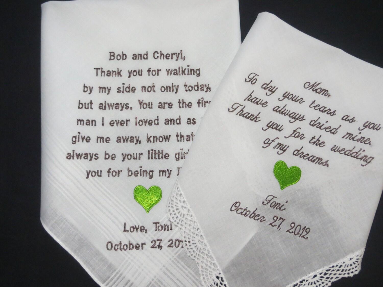 40 Words On Each Wedding Handkerchief Gift By Elegantmonogramming