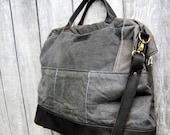 Mrs. Buford Diaper Bag:  Black Leather (custom made)