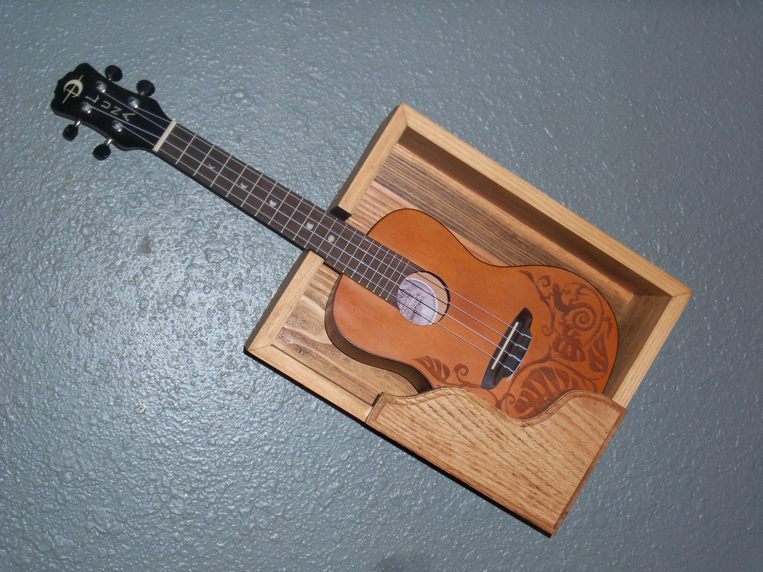 ukulele shelf by goodshepardwoodwork on etsy. Black Bedroom Furniture Sets. Home Design Ideas