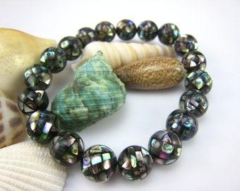 abalone shell ball shape bracelet