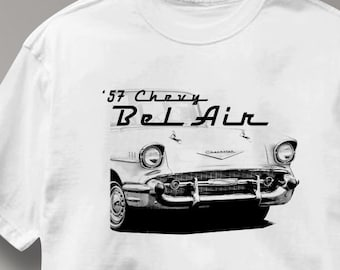 Chevy Bel Air 1957 Classic Chevrolet Car Auto T Shirt Tee Shirt Mens Womens Ladies Youth Kids