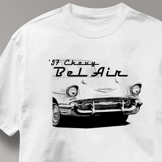 chevy bel air 1957 classic chevrolet car auto t shirt tee. Black Bedroom Furniture Sets. Home Design Ideas