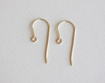 5 Pairs 14k Gold Filled Ear Wires 01 - 10 pcs gold filled earwires, jewelry finding, gold ear hooks