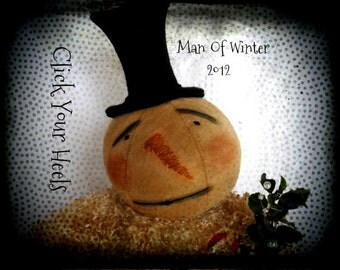 Man Of Winter Snowman Pattern  Click Your Heels