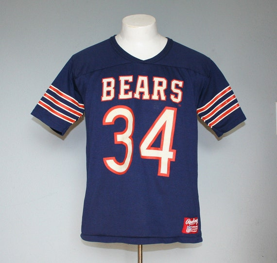 Vintage 1980s CHICAGO BEARS T-Shirt / NFL Football Jersey, m-l