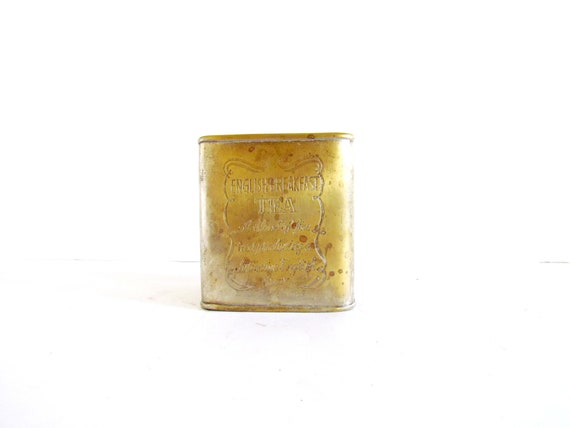 Vintage English Breakfast Tea Tin Brass India