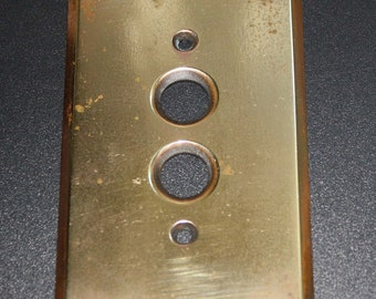 Vintage Brass Over Copper Light Switch Plate