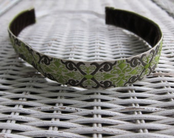 Green Scroll Headband -  Women's Running Headband