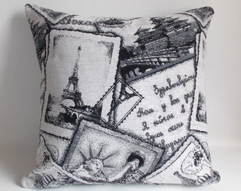 Decorative pillow 20'' x 20'' inches Throw Pillow Cover Cut White,Gray,Black