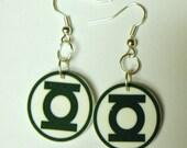 Green Lantern Earrings-