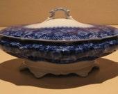 Vintage Flo Blue Covered Dish