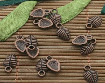 200pcs copper tone shell charms h3318