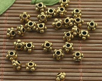 300pcs dark gold tone spacer beads h3351