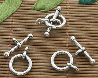 30sets dark silver tone toggle clasp h3534