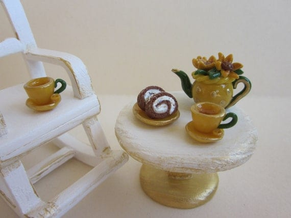 ... Dollhouse Miniature Rocking Chair Shabby Sunflower Inspiration on Etsy