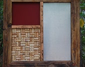 Message Center with Burgundy Chalkboard/ Custom Message Center/ Wall Hanging