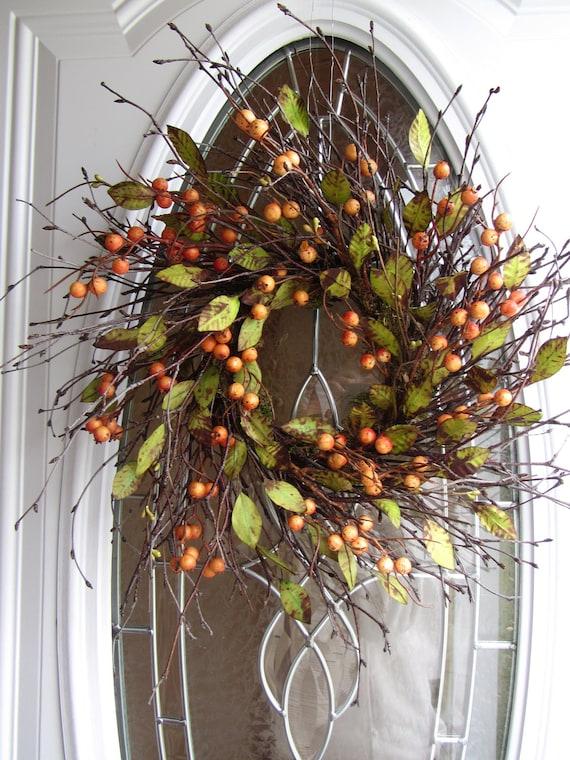 Fall Wreath Berry Wreath Autumn Wreath Front Door Wreath