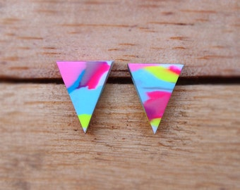 Triangle Studs - Multi-colour