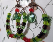 Green Ring Earrings