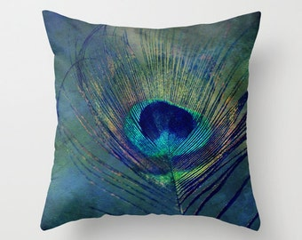 Plume - Throw Pillow - Home Decor -  photography, custom art, nature, poppies, flowers, floral