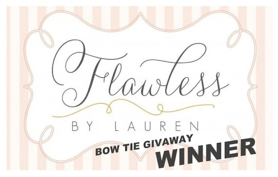 Reserved for Ashley - Winner of the Flawless by Lauren Bow Tie Giveaway