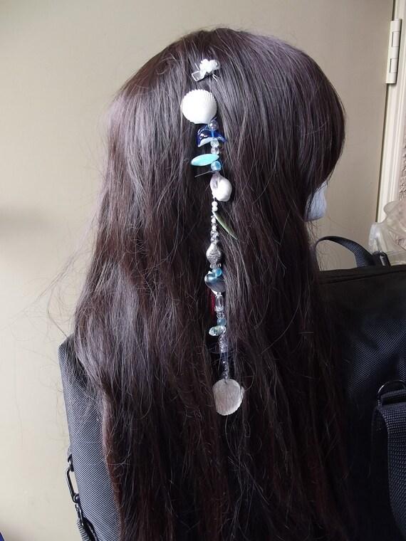 White Shell Mermaid Hair Extension Clip
