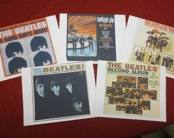 All The Beatles Album Covers note cards