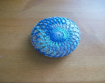 Crochet covered sea stone no:4 handmade by Arzu
