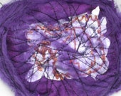Purple FlowerTextile  Brooch, Purple Silk Textile Brooch, Purple Mixed Media Brooch,  Exclusive Handmade Designer Jewelry Wearable Jewellery
