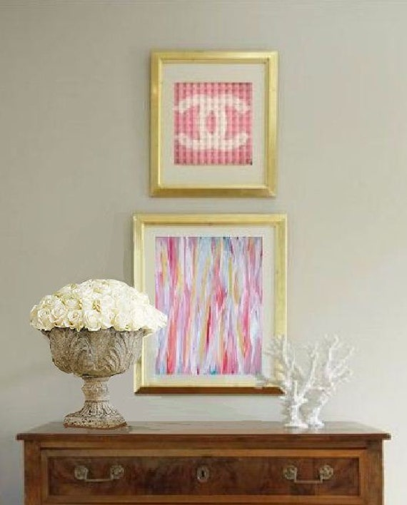 Spring Summer Missoni and Chanel Inspired Abstract Acrylic Painting on Canvas